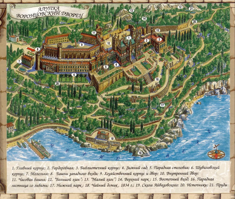 Алупка карта