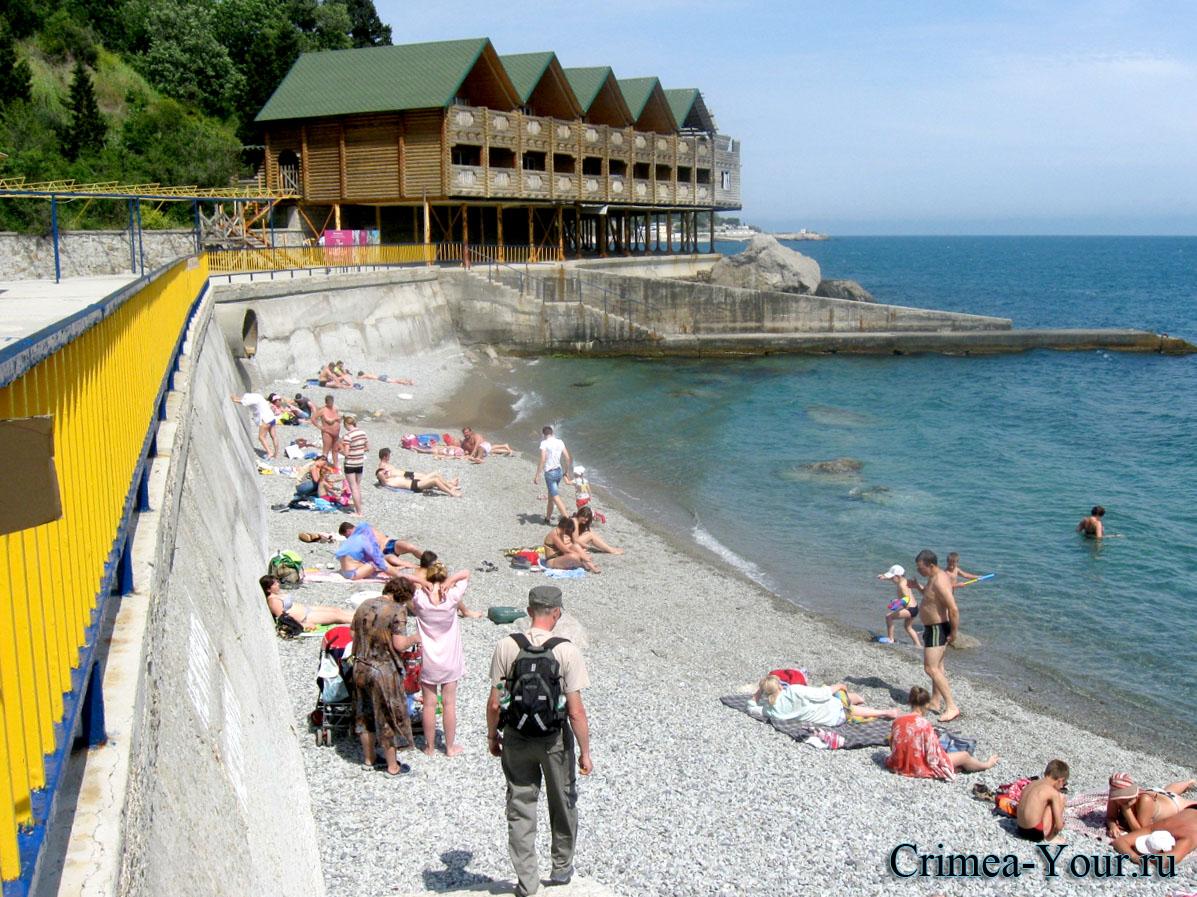 Алупка городской пляж