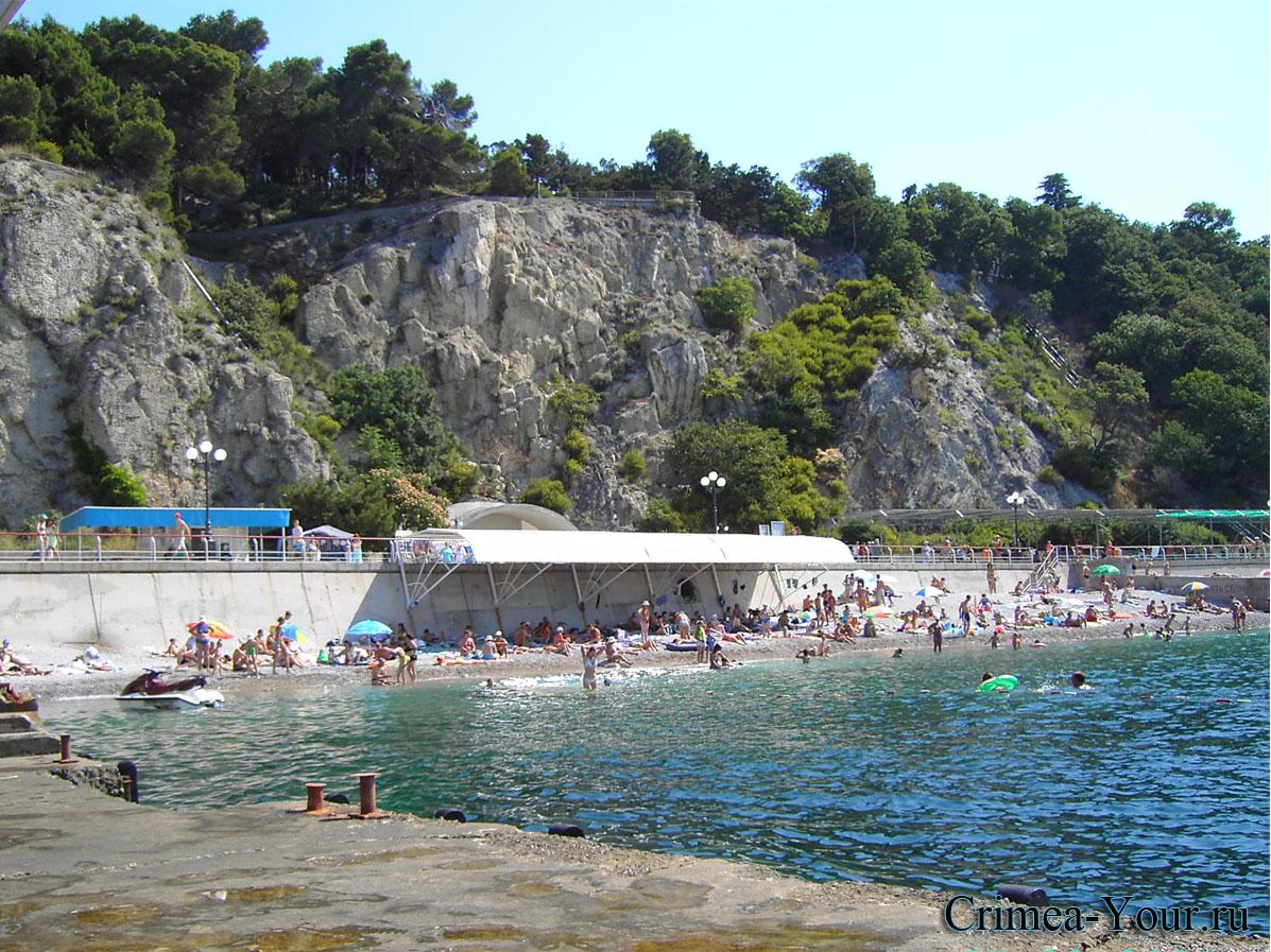 Гаспра. Городской пляж