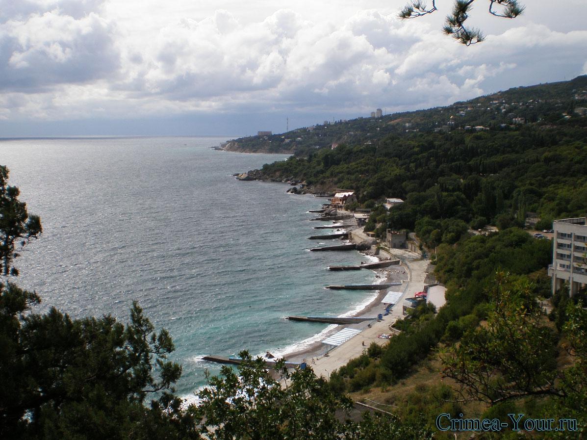 Гаспра. Прибрежная зона