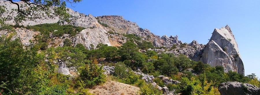 скала Парус под Челеби — результат гигантского древнего обвала