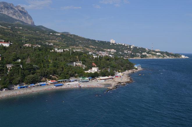 Пляжная зона Симеиза