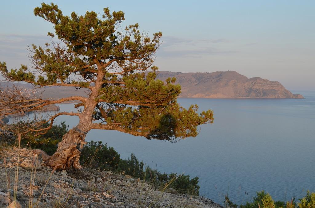 Судак. Вид на Меганом с горы Алчак-Кая