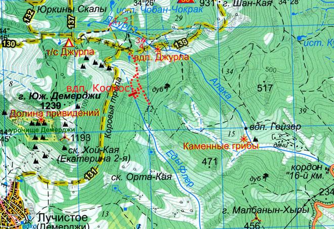 Карта Гейзер